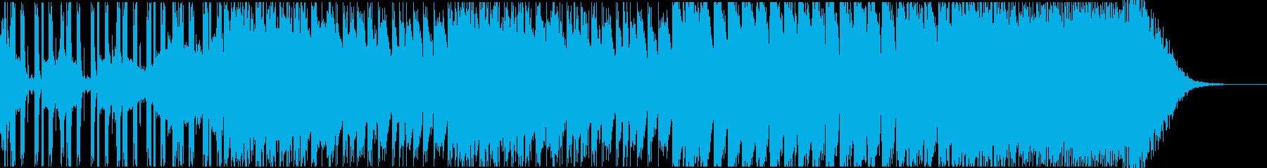 クールなEDMクラブ系ダンスミュージックの再生済みの波形