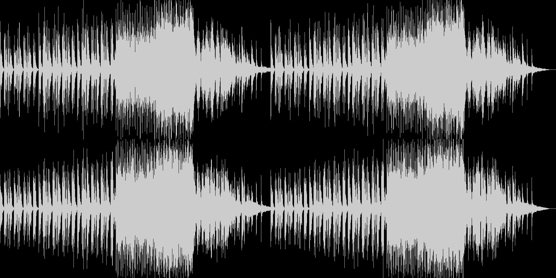 穏やかで神秘的・幻想的なピアノ曲の未再生の波形