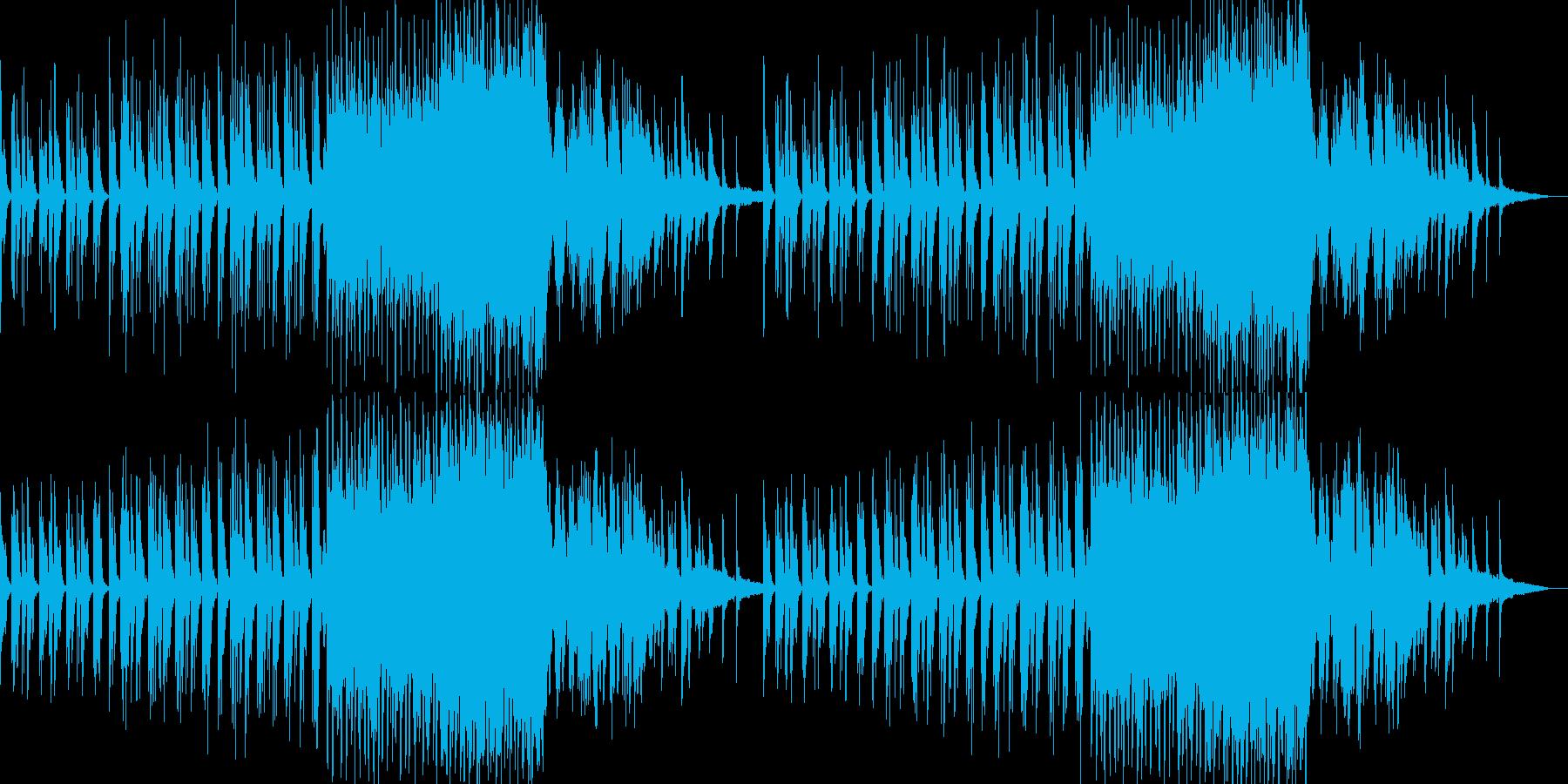 穏やかで神秘的・幻想的なピアノ曲の再生済みの波形