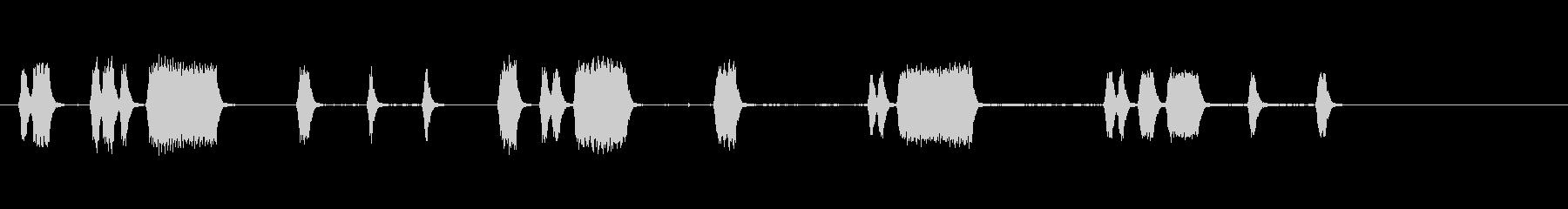 カーホーンビープ音;小型車からのさ...の未再生の波形