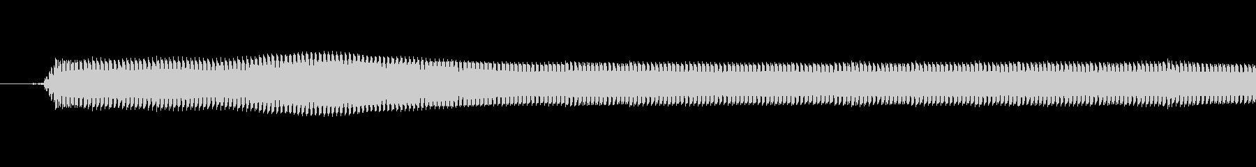 小さい高音のブザーの未再生の波形
