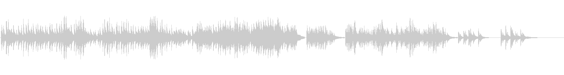生ピアノソロ・月と金木犀の未再生の波形