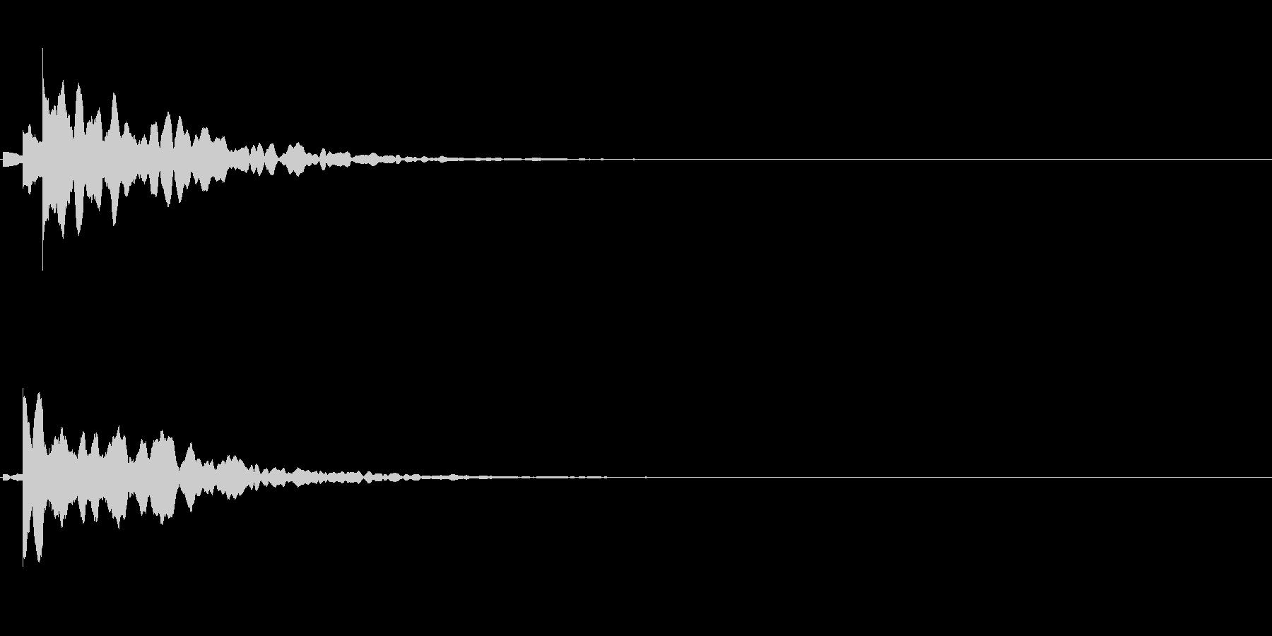「こちらです」キッカケの音_07の未再生の波形