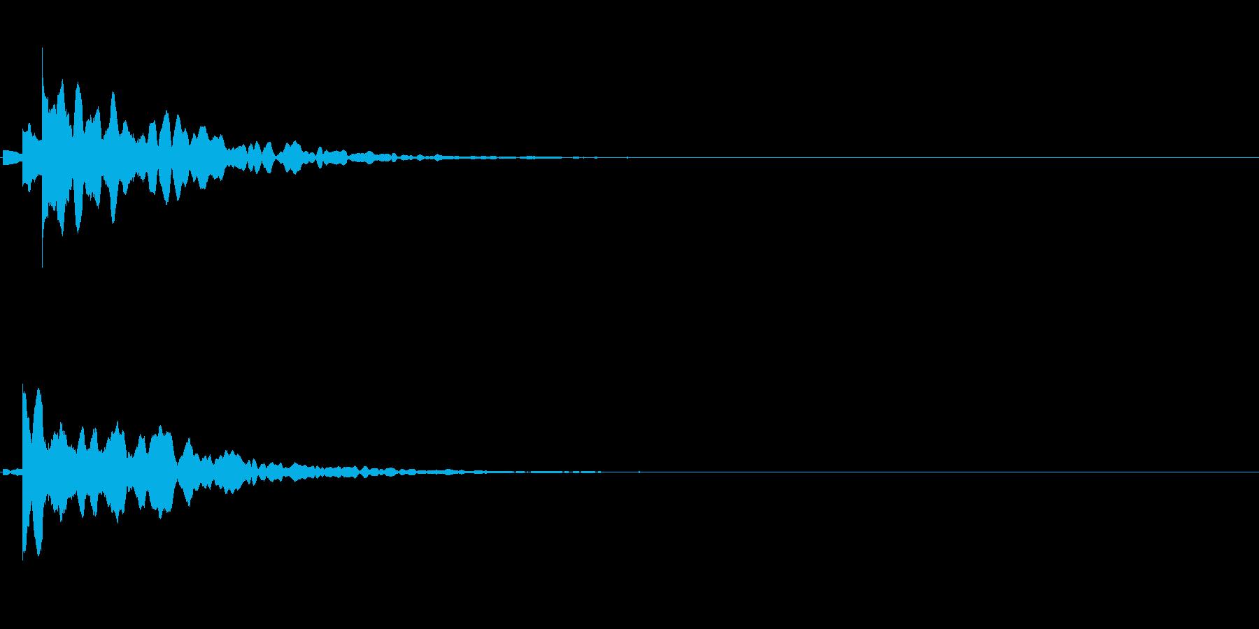「こちらです」キッカケの音_07の再生済みの波形
