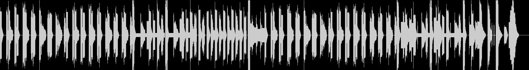チップチューンのほのぼのBGMの未再生の波形
