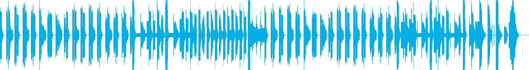 チップチューンのほのぼのBGMの再生済みの波形