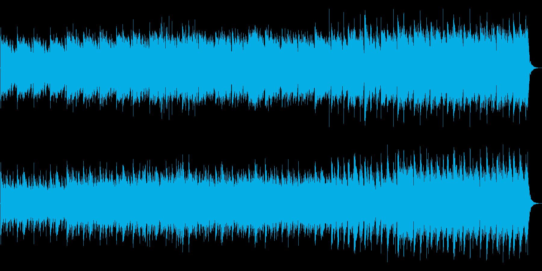 緑道の中のサイクリングをイメージした曲の再生済みの波形