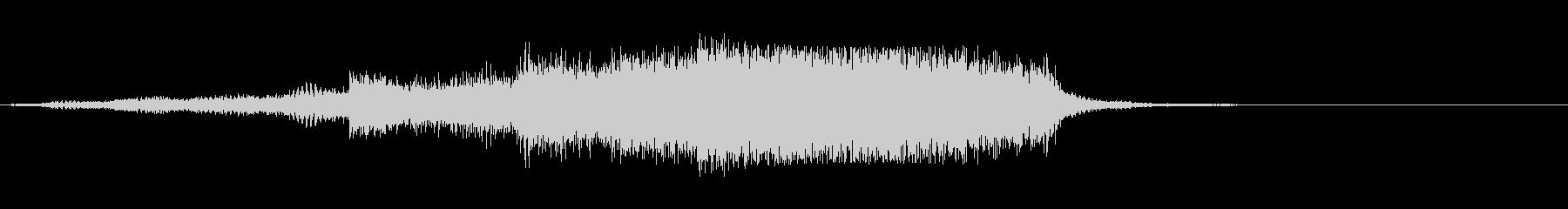 シンセとベルによるチャプター開始音の未再生の波形