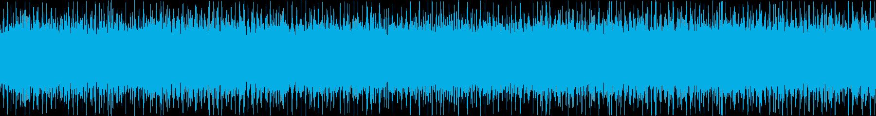 ザァー(FMラジオのノイズB)ループ処理の再生済みの波形