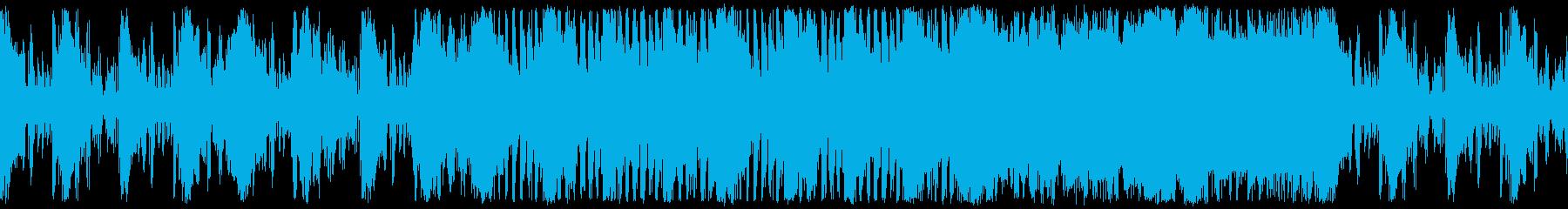 危険で不気味な中東風エスニック ループの再生済みの波形