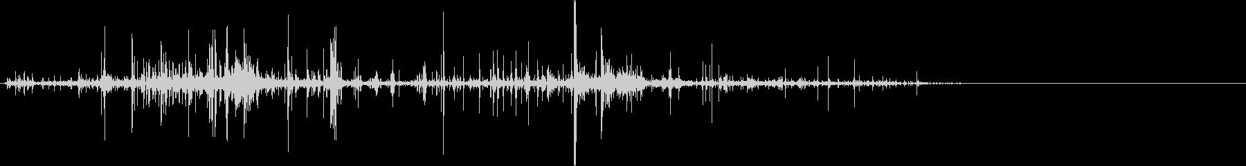 メリメリ引き千切る音3の未再生の波形