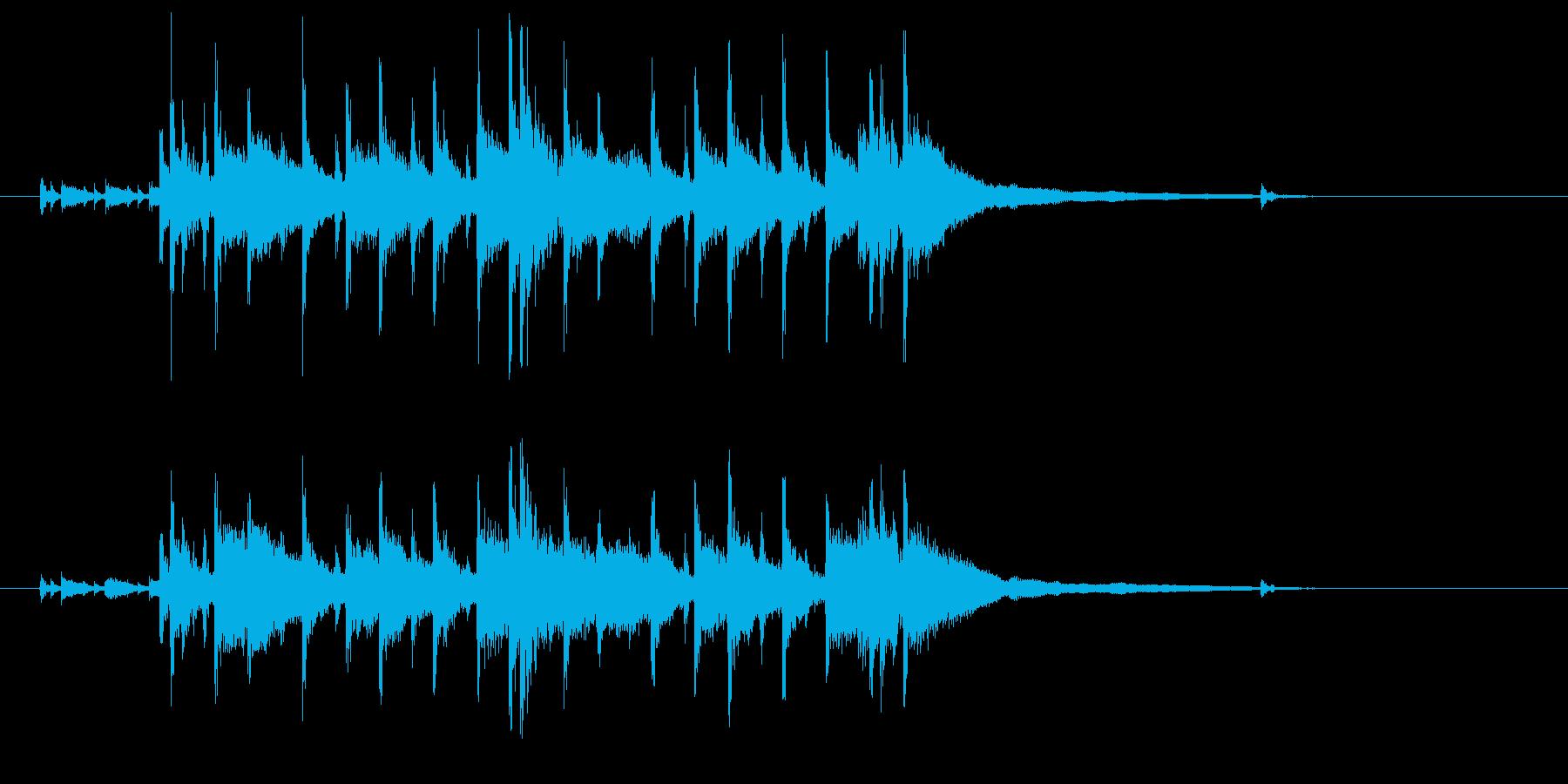 ドラムが印象的なジングルの再生済みの波形