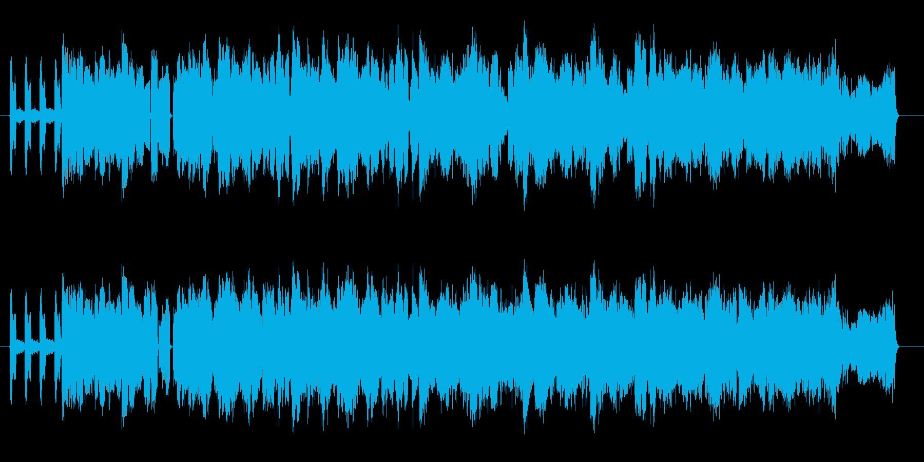 複雑なビートが印象的なテクノミュージックの再生済みの波形