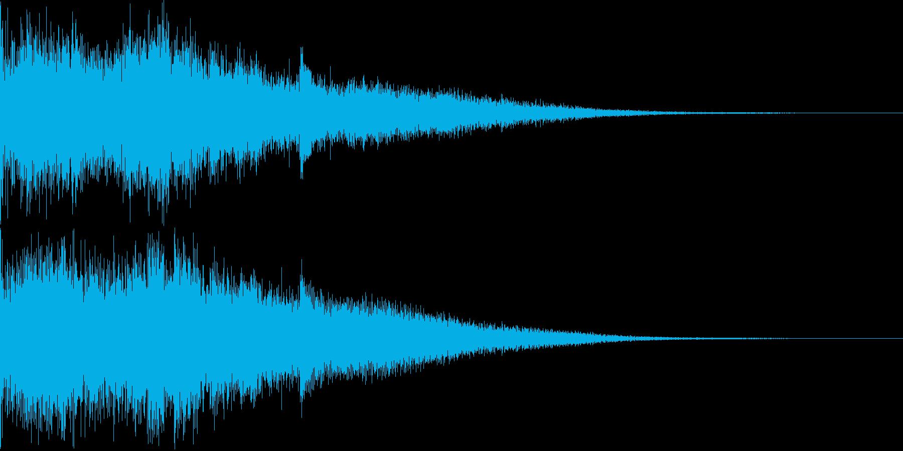 カジノスロット定番トップシンボル音6の再生済みの波形