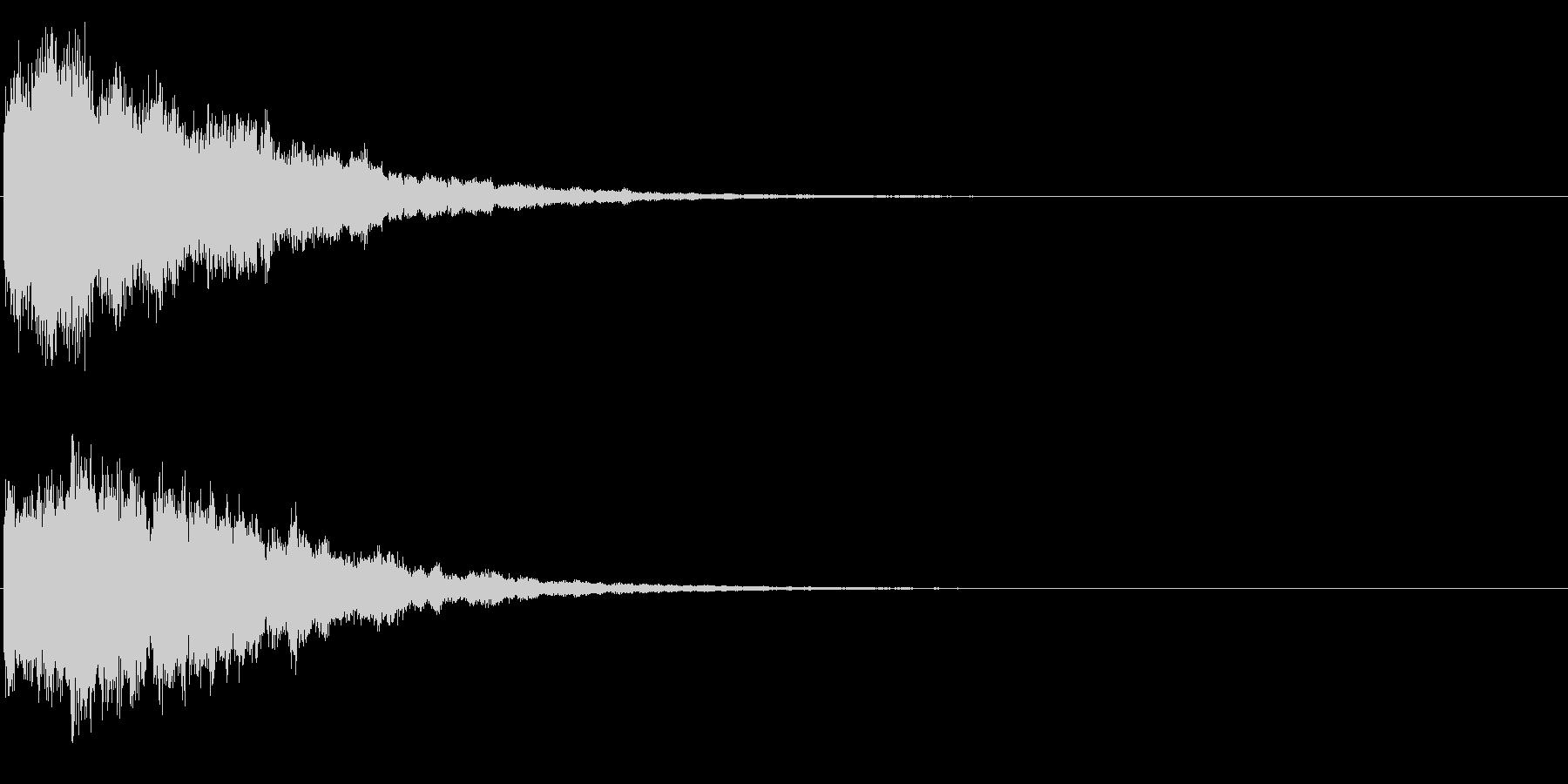 ゲームスタート、決定、ボタン音-167の未再生の波形