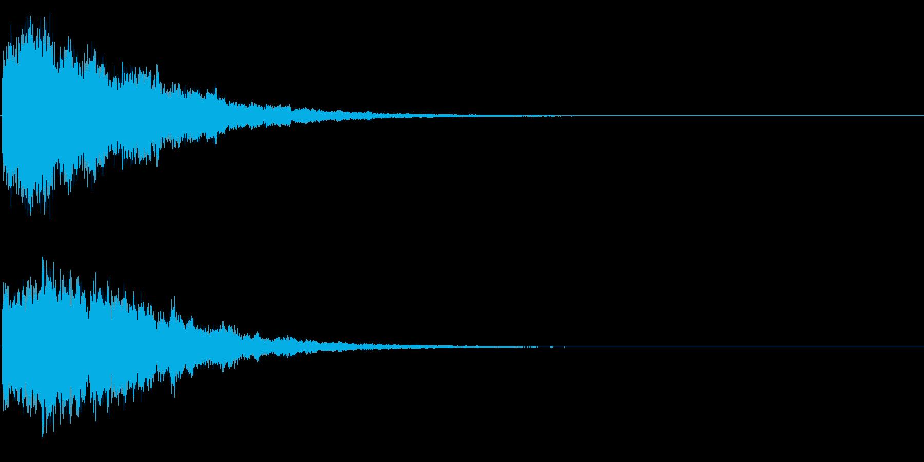 ゲームスタート、決定、ボタン音-167の再生済みの波形