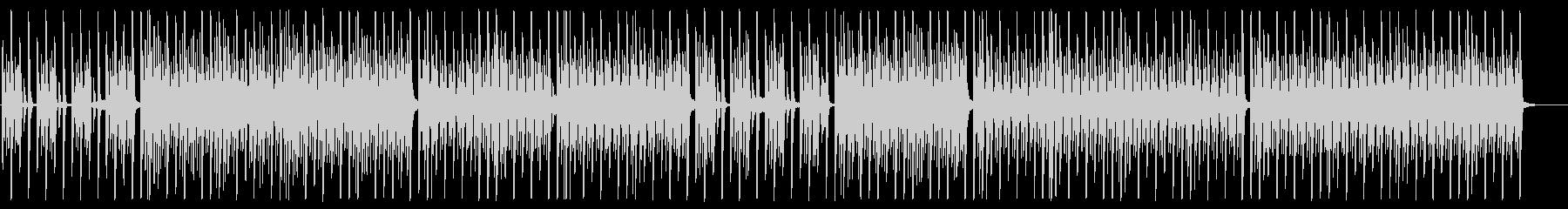クールで無機質なEDM/シンセサイザーの未再生の波形