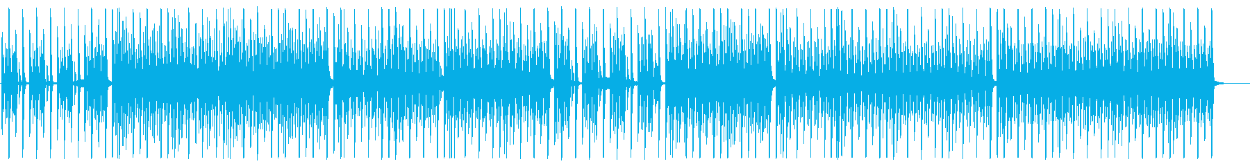 クールで無機質なEDM/シンセサイザーの再生済みの波形