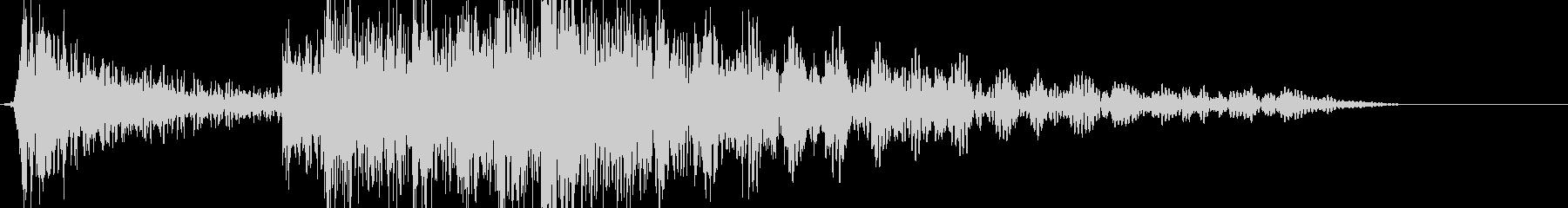 ドンドンくる低音の数の未再生の波形