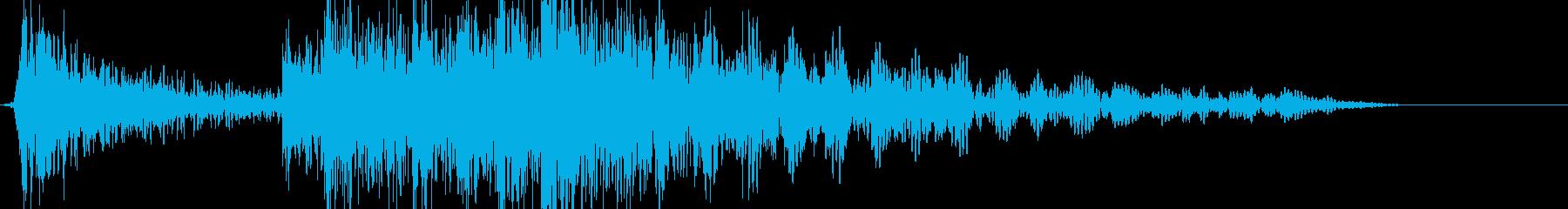 ドンドンくる低音の数の再生済みの波形