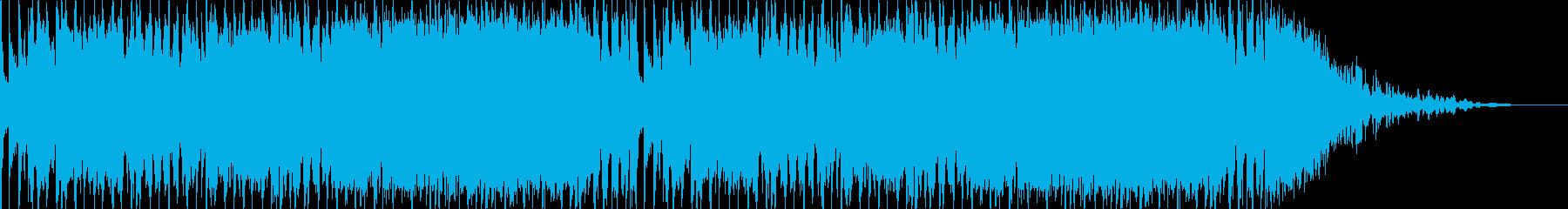 ヘビーなエレキギターのバンドサウンドの再生済みの波形