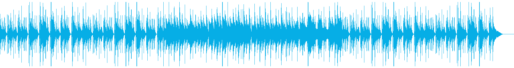 ウクレレと鉄琴のほのぼのポップスの再生済みの波形