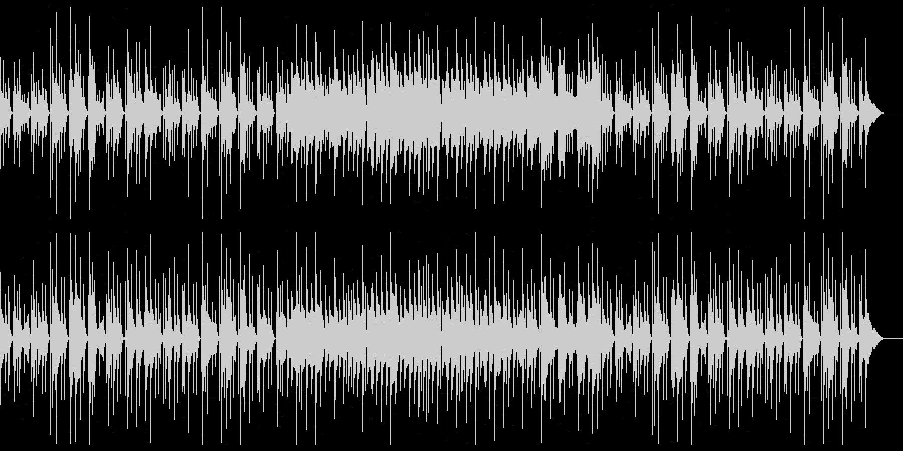 ウクレレと鉄琴のほのぼのポップスの未再生の波形