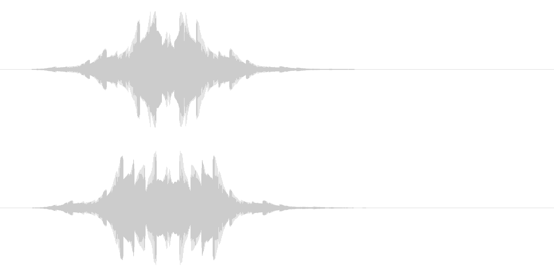 通知アラートの未再生の波形