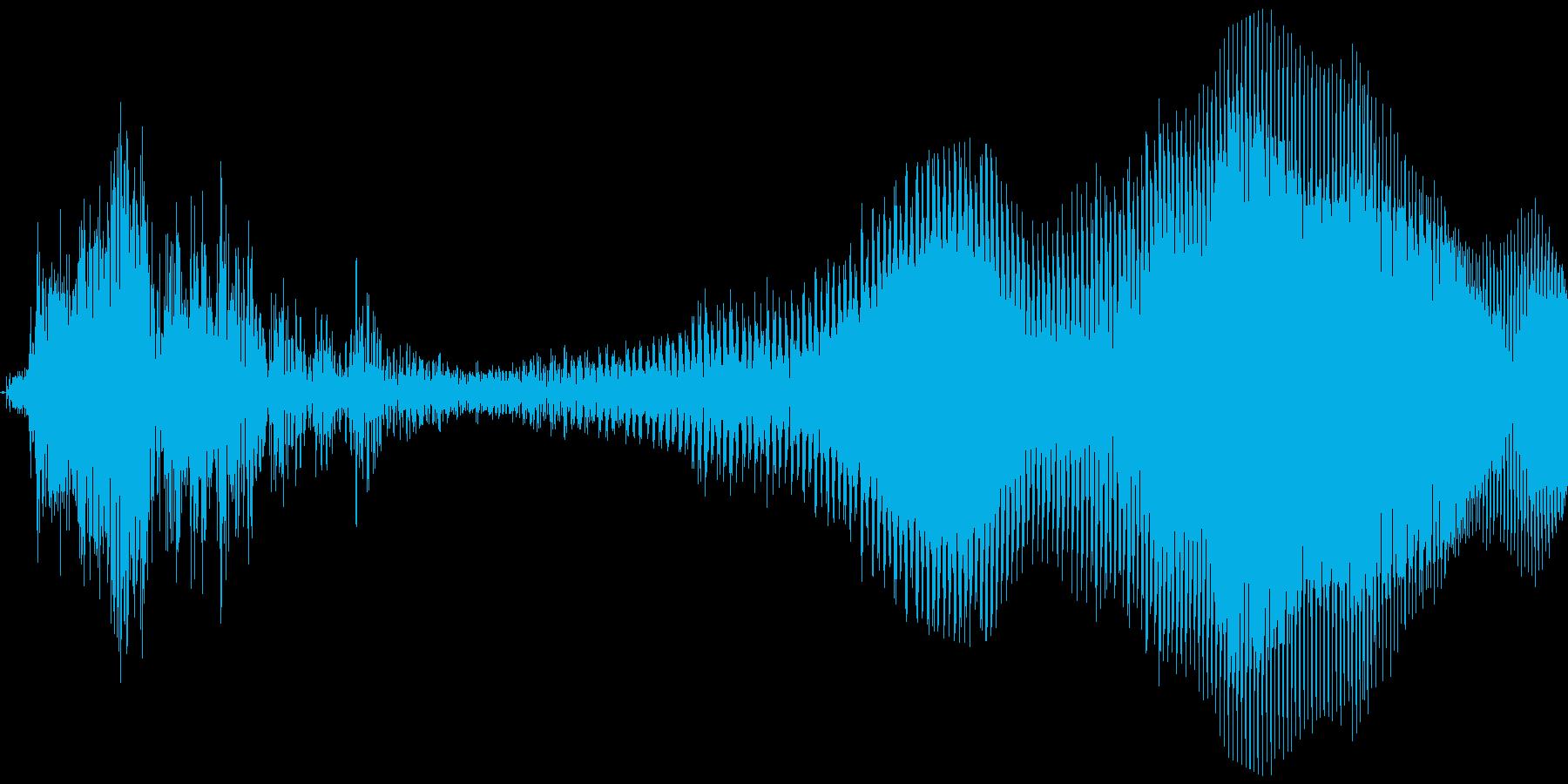 でやあああっ!【攻撃、掛け声】の再生済みの波形