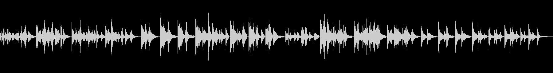 ゆったりとした生ピアノソロ・水の中の未再生の波形