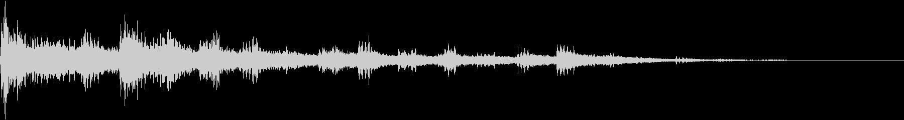 電子音が盛り上げを強調していくの未再生の波形