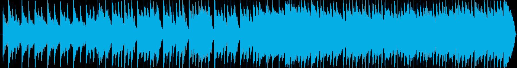 ミドルテンポのブルースっぽい和風ファンクの再生済みの波形