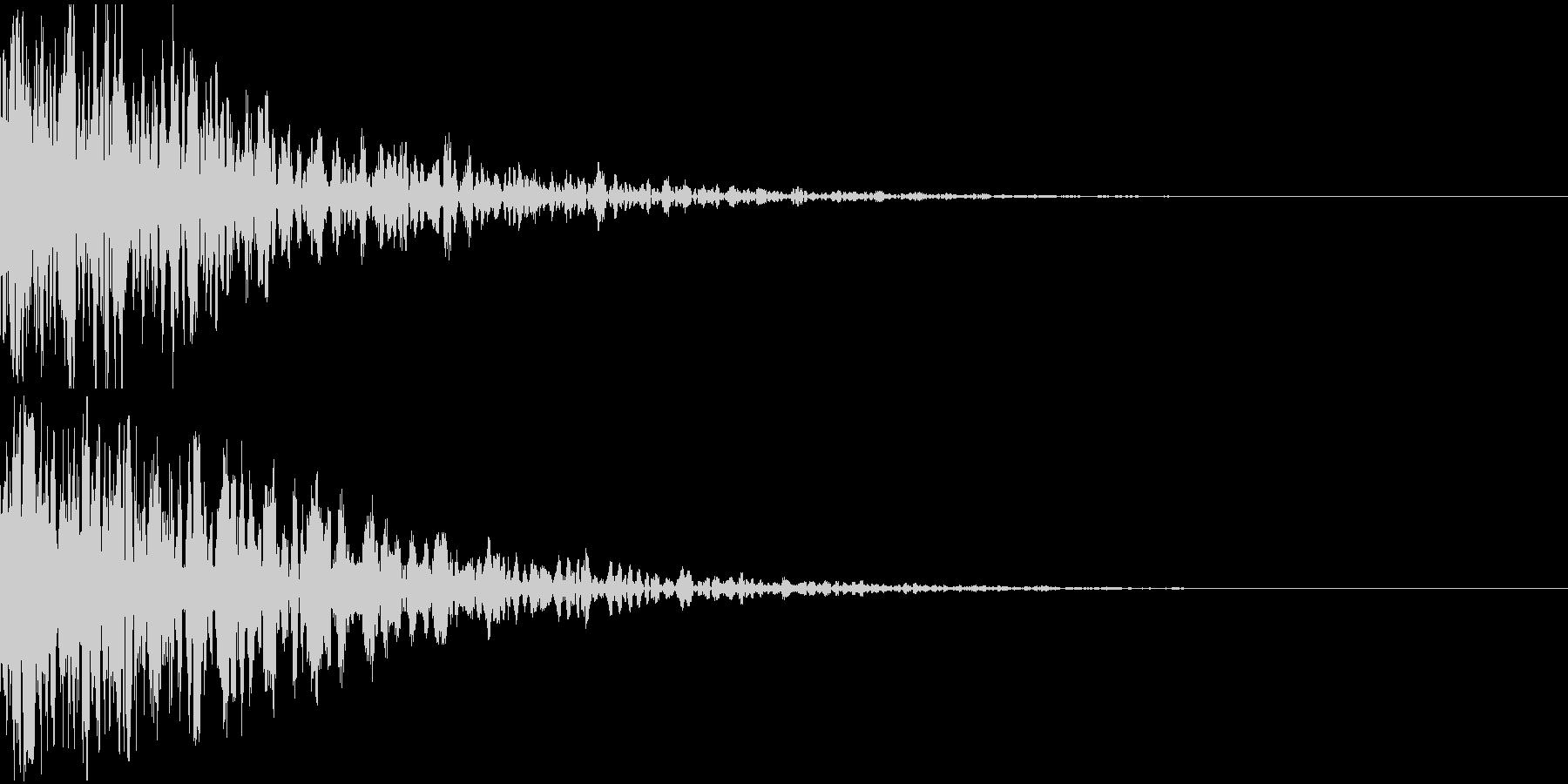ドーン-10-2(インパクト音)の未再生の波形