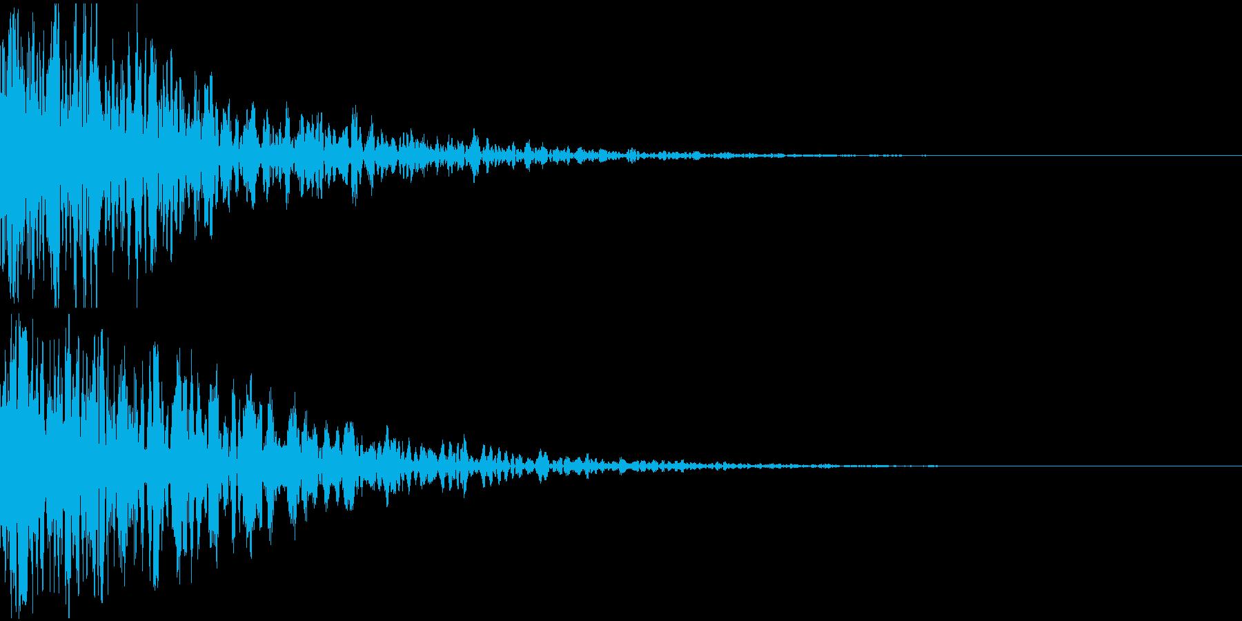 ドーン-10-2(インパクト音)の再生済みの波形