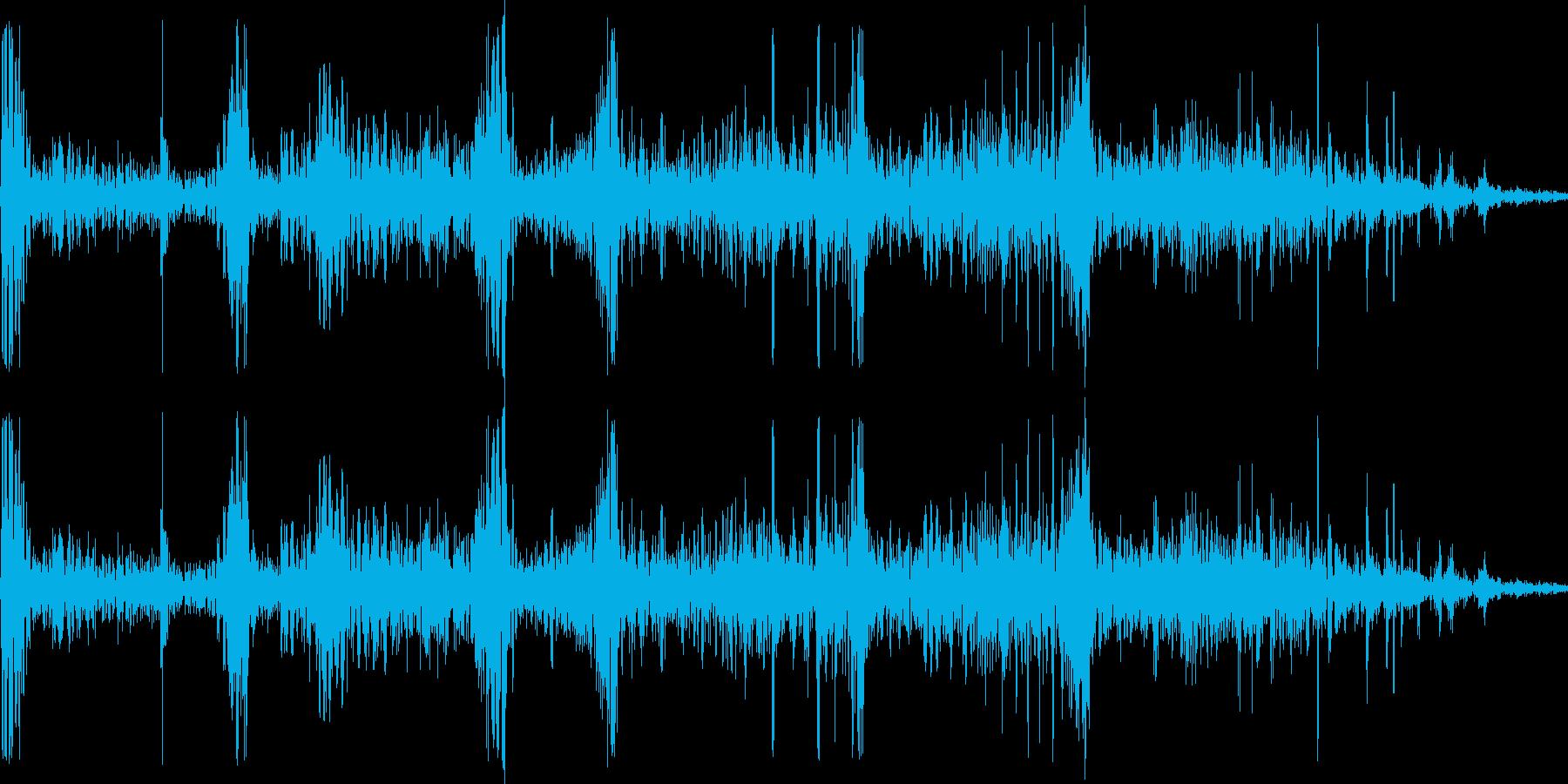 打撃・骨折の音01の再生済みの波形