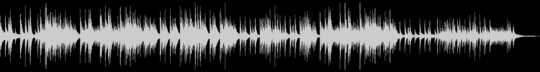 ノスタルジックで落ち着きのあるピアノソロの未再生の波形