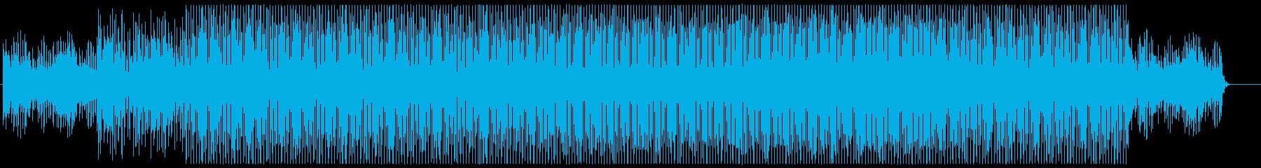 少し柔らかめのハウス、テクノの再生済みの波形