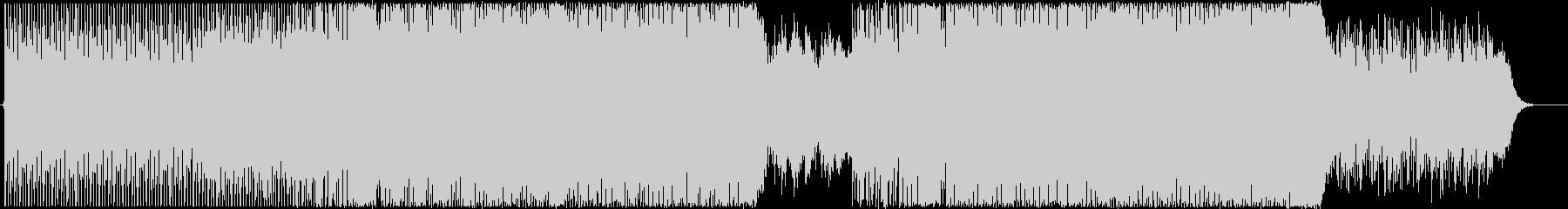 ハイテンポな感動ピアノ+シンセハウスの未再生の波形