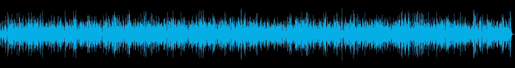 お洒落なカフェで流れるピアノBGMの再生済みの波形