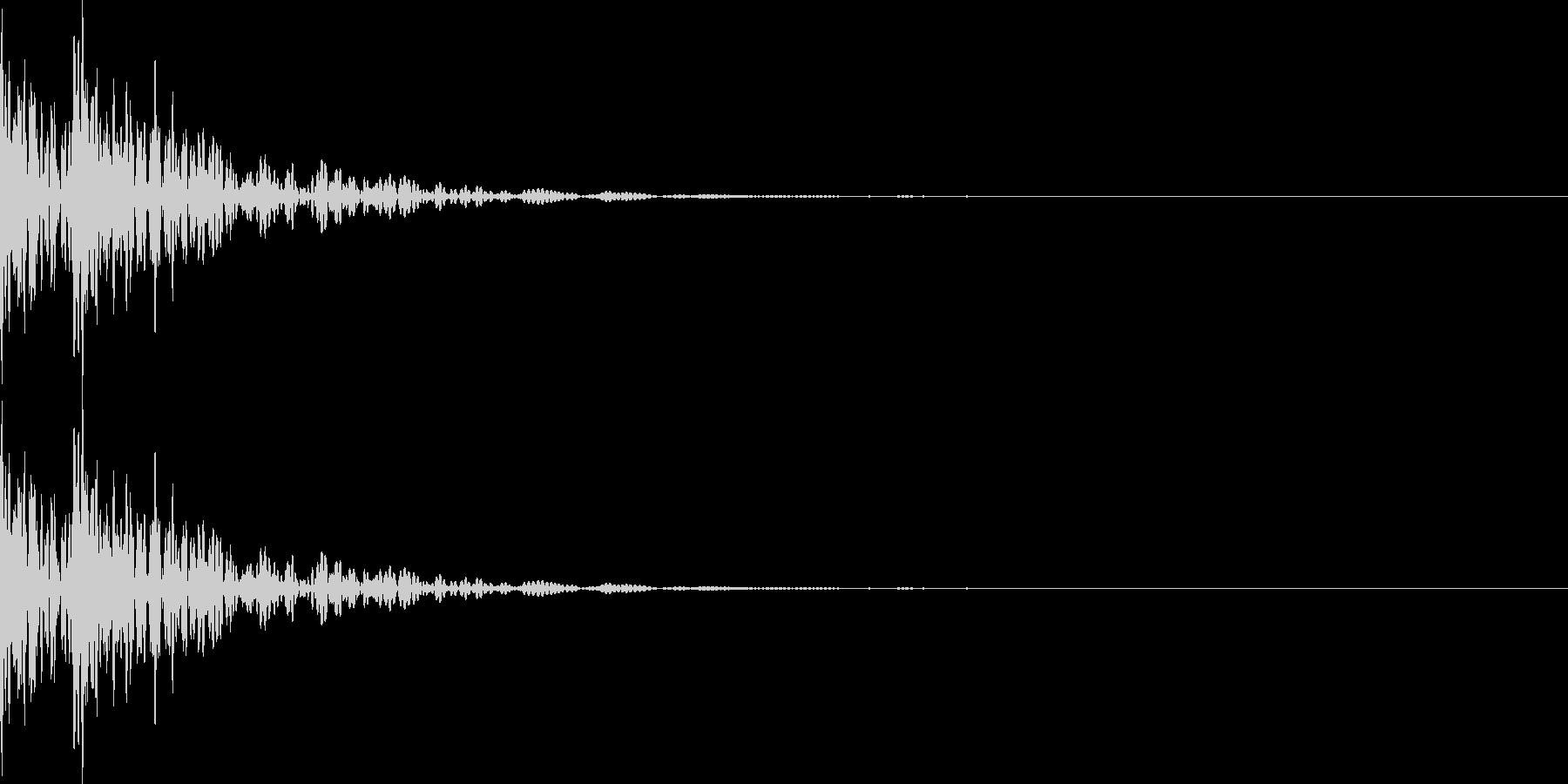 ドドン!太鼓の音2の未再生の波形
