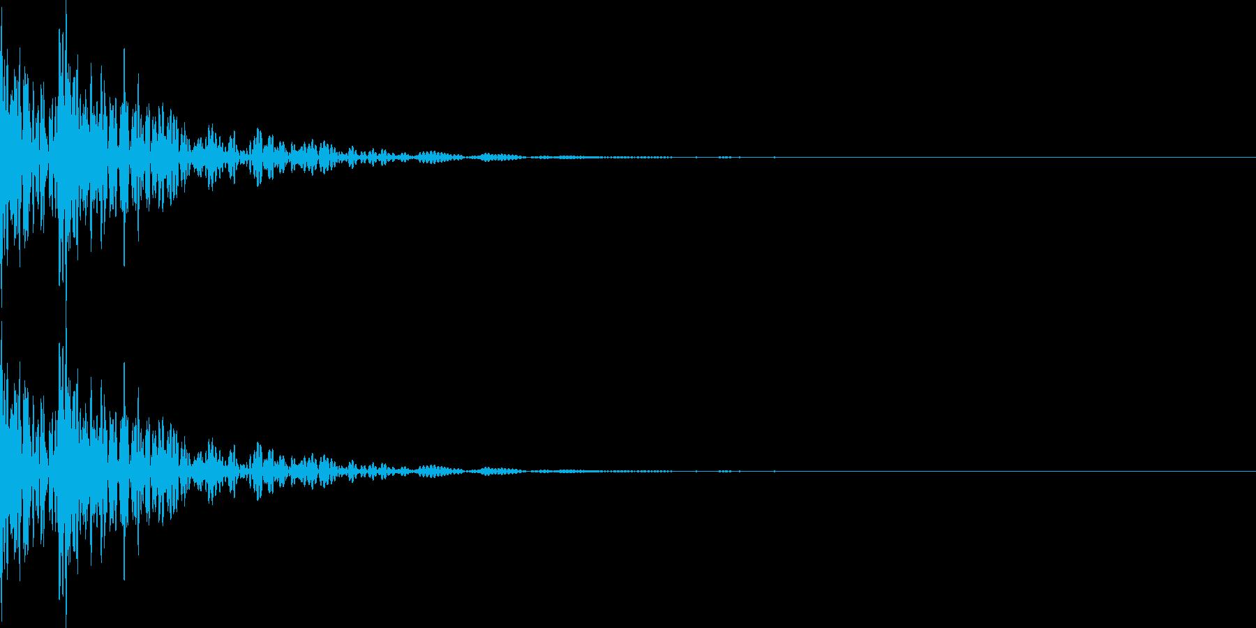 ドドン!太鼓の音2の再生済みの波形