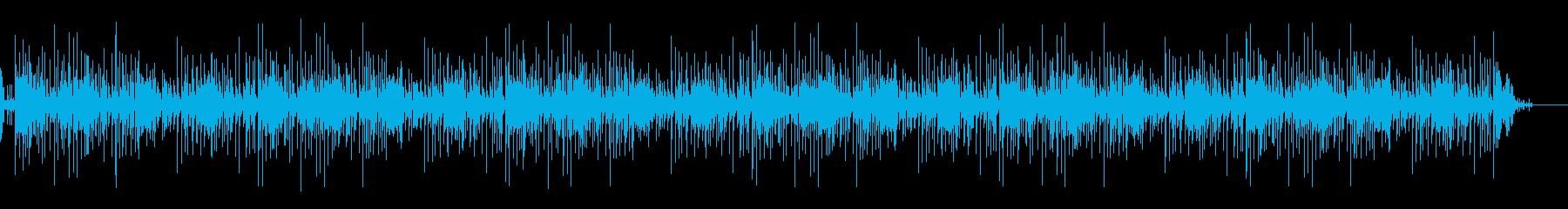 スチールドラムの明るい曲の再生済みの波形