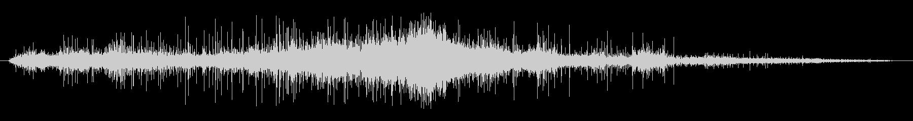 ホットメタルヒスのウェットラグの未再生の波形
