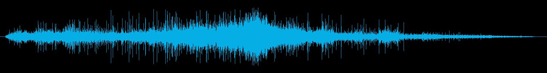 ホットメタルヒスのウェットラグの再生済みの波形
