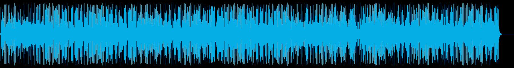 トロピカルでリズミカルな南国曲の再生済みの波形