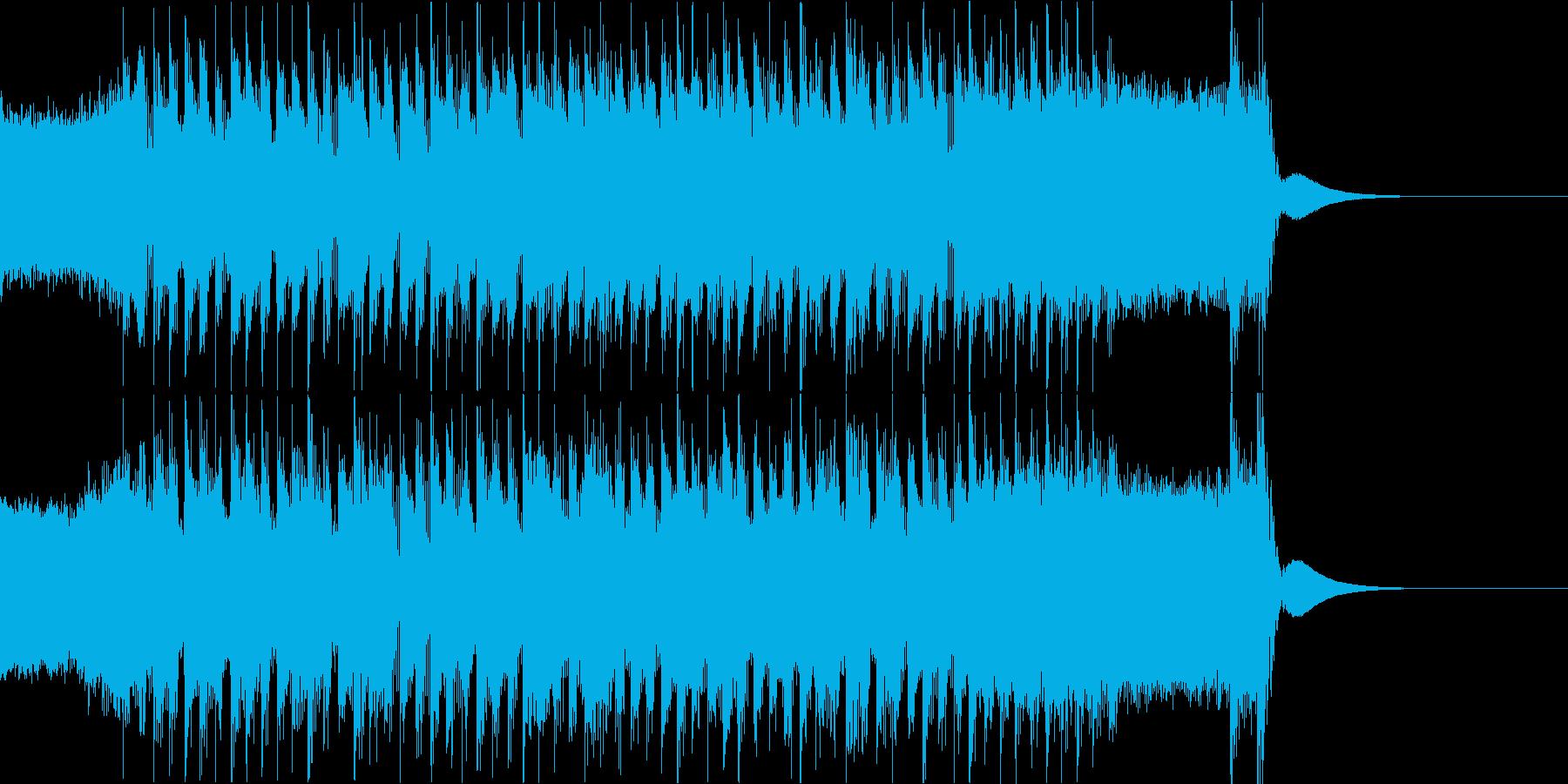 攻撃的で悪そうな雰囲気のメタルジングルの再生済みの波形