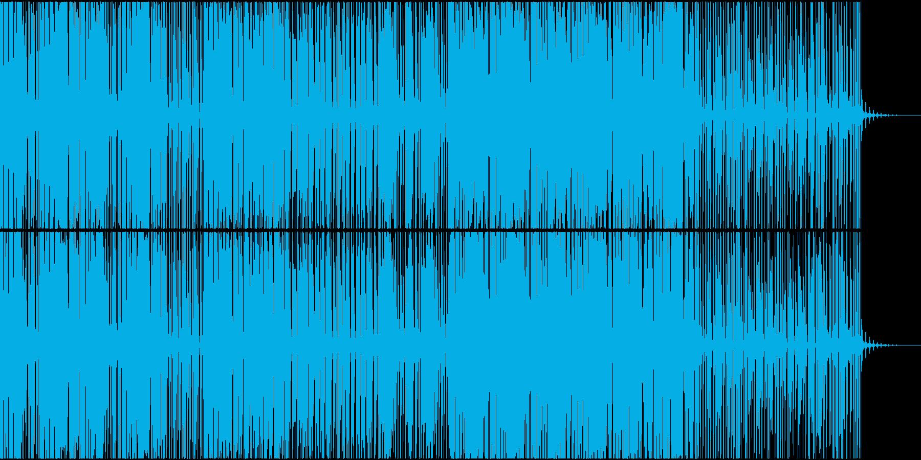 ブラスの効いたHouse系BGMの再生済みの波形