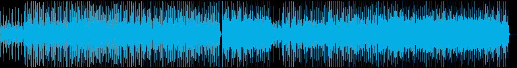 アップテンポなOP風アコギとドラムの曲の再生済みの波形