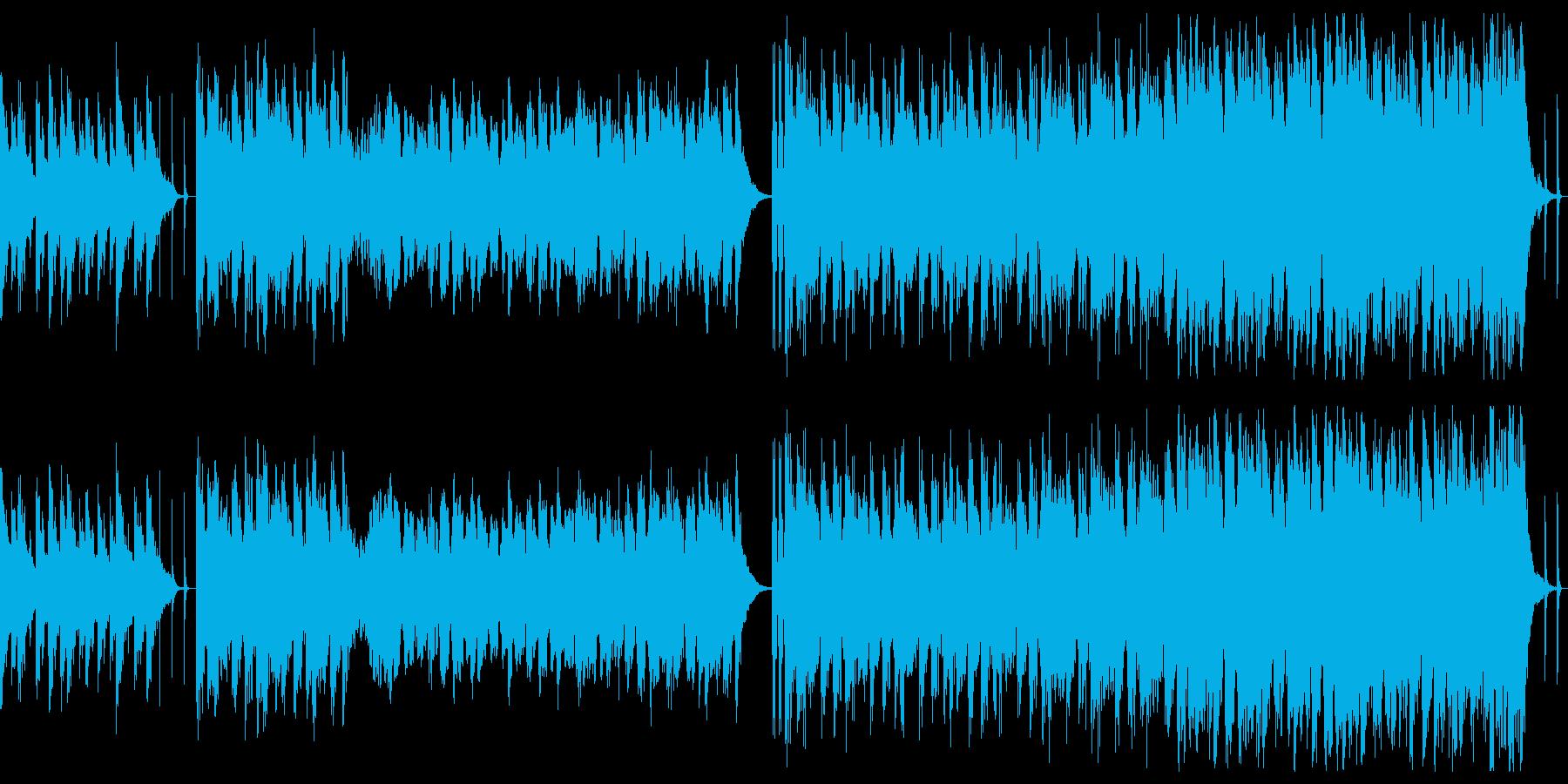 ゆるい系ファンタジーなRPGバトル楽曲の再生済みの波形