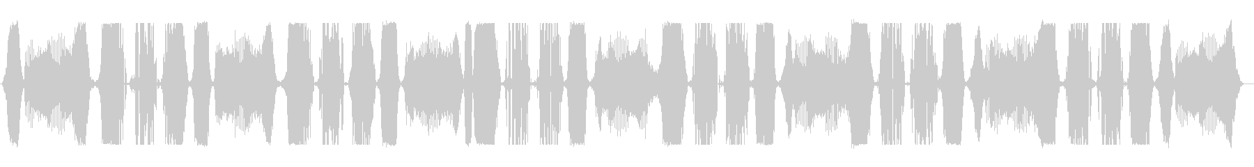 通信歪みアクティブアラームの未再生の波形